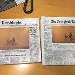 How often does this happen? Same front page photo for @washingtonpost @nytimes https://t.co/JYvCfdOske