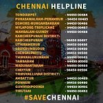 Stay Safe Chennai People. Here are the Helpline Numbers for the Flood Affected Areas. RT & Spread #ChennaiRains https://t.co/OstOQC1ugG