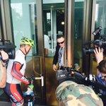 .@TonyAbbottMHR unsuccessfully tries to sneak past the media pack during @Bobkatter presser #auspol @abcnews https://t.co/1EKjwmMOOB