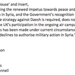 Pleased to be working across party lines on this amendment to stop UK bombing in Syria. #DontBombSyria https://t.co/FRmKQvrKja
