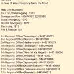 Emergency Helplines and Relief centres: #StaySafeChennai https://t.co/9mElX0YpWB