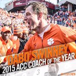 Best is the standard — Coach Swinney voted ACC Coach of the Year!   Story: https://t.co/ar7DwHKrM5 https://t.co/YWno46spXQ