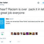 .@GOP says Rosa Parks ended racism 60 yrs ago – and the internet responded w/ predictable but hilarious sarcasm: https://t.co/UfNObDQyYb