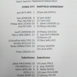 Heres tonights official teamsheet for the @CapitalOne_Cup tie with @stokecity #swfcLIVE https://t.co/MtlNdDhs6G