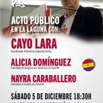 Acto público de @IUCanaria con Cayo Lara, coordinador federal de @iunida , este sábado en la Pza de la Concepción. https://t.co/YqqvXSXpMx