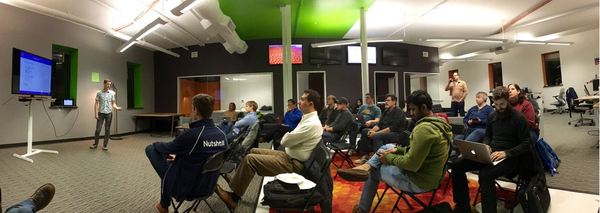 First meeting of the new @AnnArborPHP group tonight @nutshell HQ. Good times! https://t.co/NqO50sTSs0