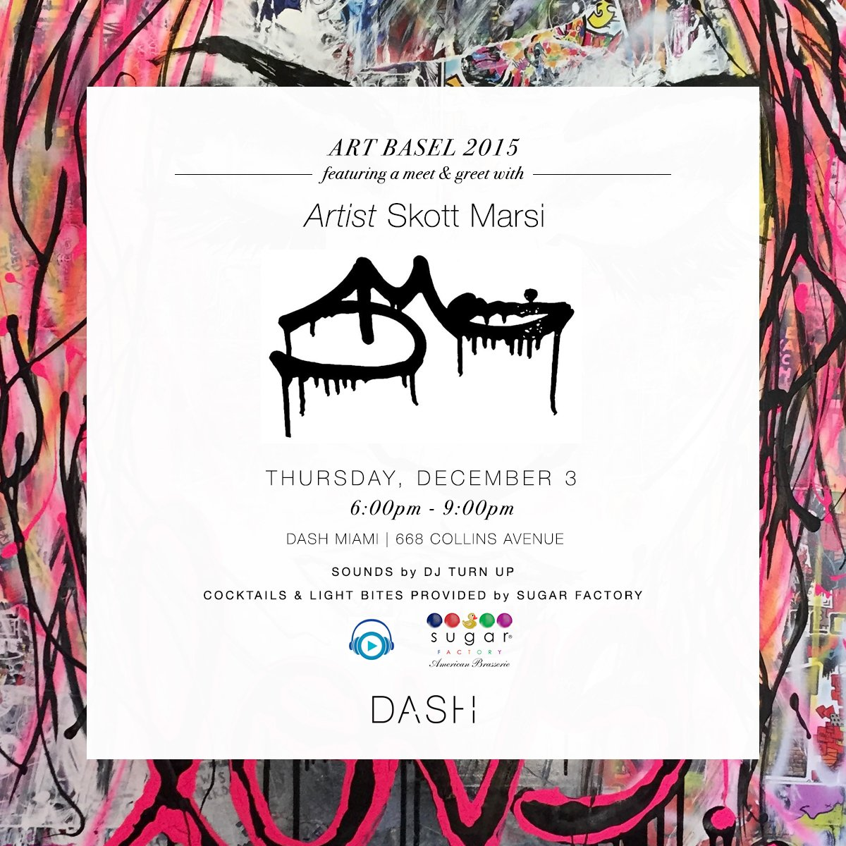It's Art Basel time! If you're in Miami check out our event at @DASHBoutique with @skottmarsi and @SugarFactory! https://t.co/YNRfUzGOt5