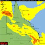 #Australia #QLD #NT Snapshot of Storm Probability for PM Wednesday https://t.co/iMhITrTtWZ