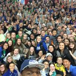 Liberty High School raised $2,400 for #PatriotsInPink! @cliffavril joined the pep rally. ???? #12s4Good https://t.co/Ii9bJHVpYW