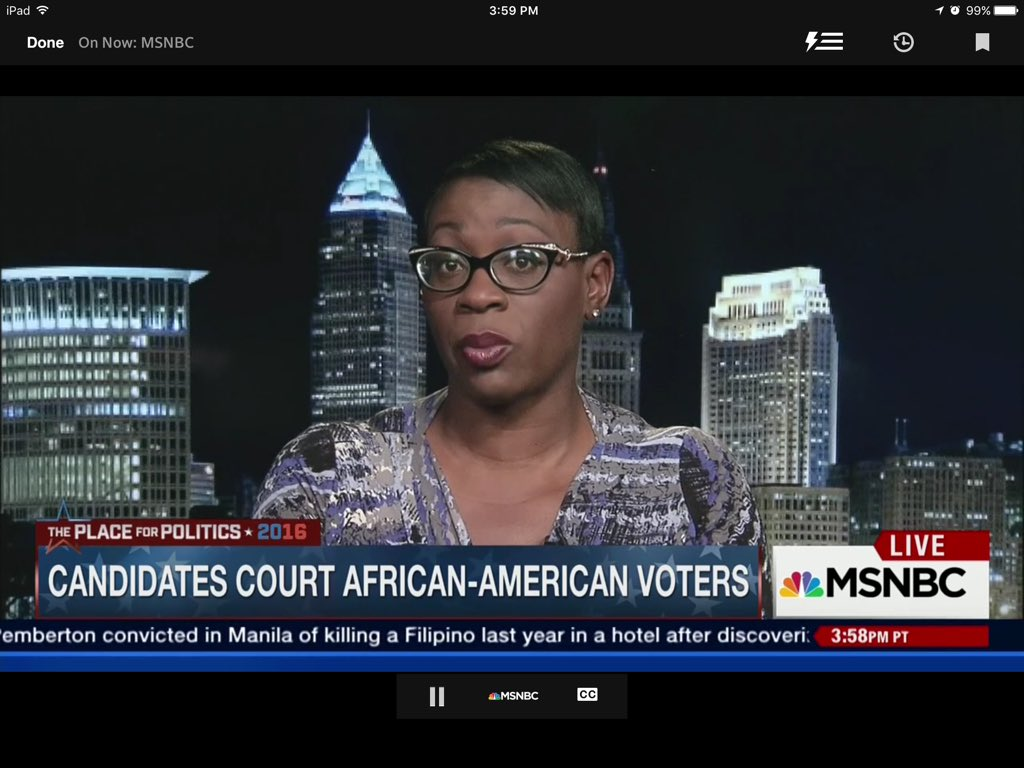 Great commentary by @ninaturner on @msnbc stumping for @SenSanders - always a sharp p.o.v. #loveMeSumNinaTurner ! https://t.co/oVvOFbWs8p