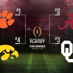 OUr #Sooners remain at #3 in the @CFBPlayoffs! #BoomerSooner #Baker4Heisman https://t.co/rFOXQdh8jK