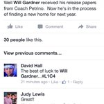 According to his mothers Facebook post, Will Gardner has been granted a release and will transfer from Louisville. https://t.co/j52iZeQvyI