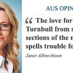 Just ignore the love media sycophants, Malcolm Turnbull, writes @jkalbrechtsen. https://t.co/JyI3gGPvhG #auspol https://t.co/LHFsn2yCdO