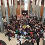 Largest civil disobedience action ever taking place in Parliament House right now! #peoplesparliament https://t.co/6RmCAscXMZ