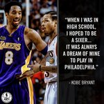 Before he wanted to be a Laker for life, Kobe Bryant dreamed of being a 76er. https://t.co/j4yt2peZHB