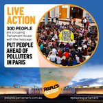 """300 people occupying Parliament: """"Put people ahead of polluters in Paris"""" https://t.co/Hw00Pk4Jzd #PeoplesParliament https://t.co/Chqw7j4Ezj"""