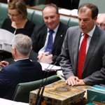 Prime Minister Malcolm Turnbull and Special minister of State Mal Brough during question time https://t.co/KKF5eL1nQF