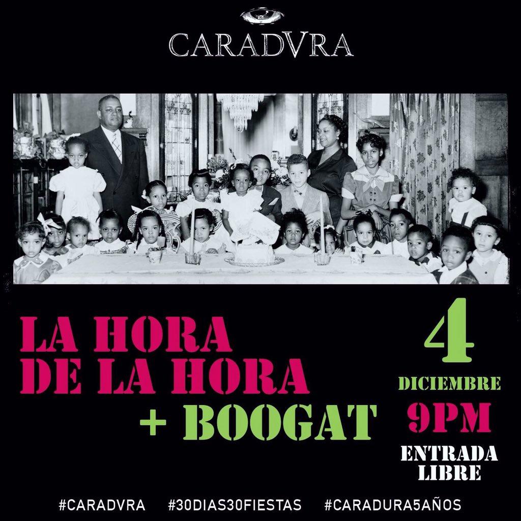 No olviden! Este viernes 4 tocaremos en el aniversario del @caraduramx #EntradaLibre #Pachanga de #FinDeAño !!!! https://t.co/QYmsxIctZl