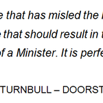 .@TurnbullMalcolm set the standard for what should happen to Ministers who mislead the Parl #auspol #ashbygate https://t.co/n284X53e2D