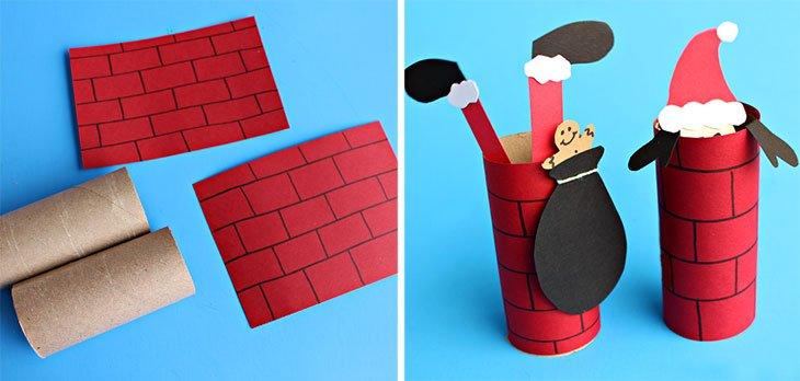 6 #manualidades de #Navidad con tubos de papel higiénico para hacer con niños