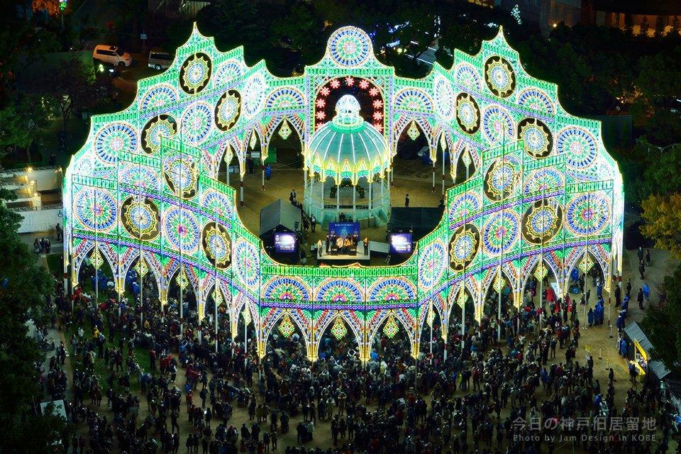 ハートフルデーの本日6時半、神戸ルミナリエが一足早く点灯しました。 LEDの灯りが明るく光っていました。 https://t.co/HgMGs25o0x