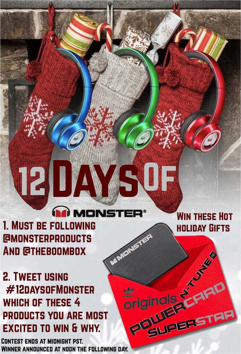 It's Day 2 of @monsterproducts' #12DaysofMonster. Enter to win a $400 prize pack https://t.co/YLNFMnT6N5 https://t.co/PPqC7V5WBI