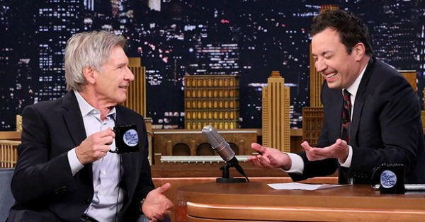 Harrison Ford teases Jimmy Fallon for removing his feather earring: