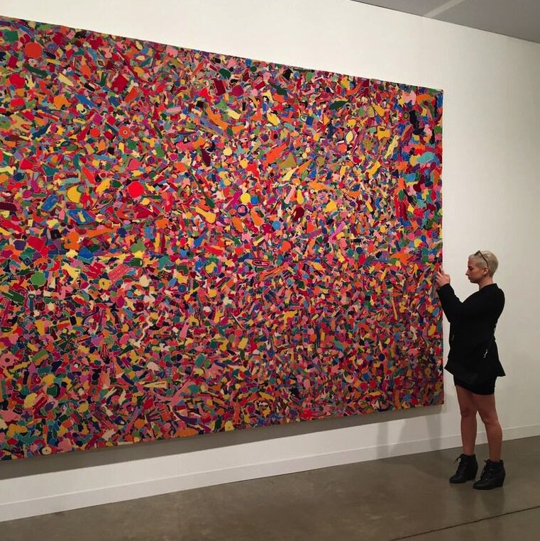 View of a large-scale embroidered work by Alighiero Boetti via @TornabuoniArt | Galleries 2015 #artbasel https://t.co/J0jnoUNGB4
