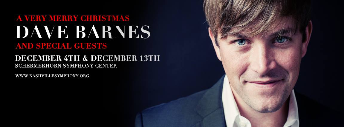 Our pal @davebarnesmusic is hosting 2 Christmas shows at @nashvillesymph! RT for a chance to win 2 tickets for 12/4! https://t.co/7Ano8L5eWd