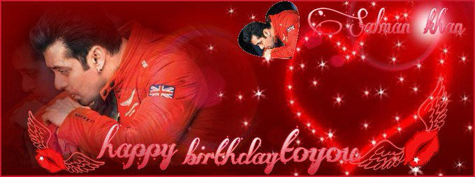 Happy birthday to you salman khan