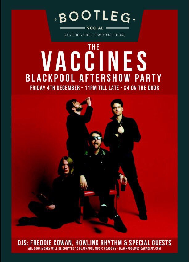 Retweet to win 4 passes to our aftershow party In Blackpool. Over 18s only. Winner picked at random Friday 4pm. Go! https://t.co/x98I85HXi9