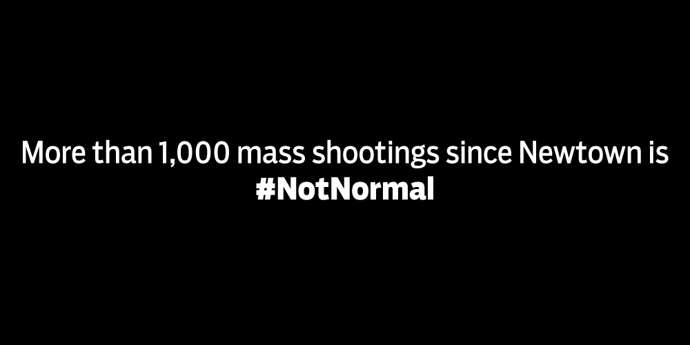 The frequency of terrifying gun violence is #NotNormal. #SanBernadino https://t.co/ZrCIHGXqvJ