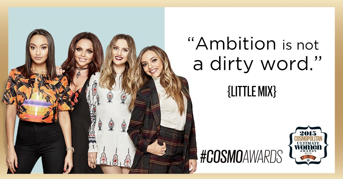 The Ultimate Girl Group award goes to... @LittleMix! Congratulations ladies #CosmoAwards