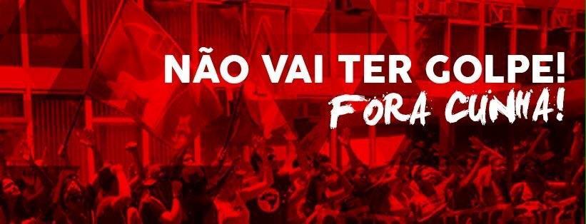 Juventude não vai admitir golpe! Estamos nas ruas e redes em defesa de Dilma #NãoVaiTerGolpe #ForaCunha #DilmaFica https://t.co/4v58kSaG36
