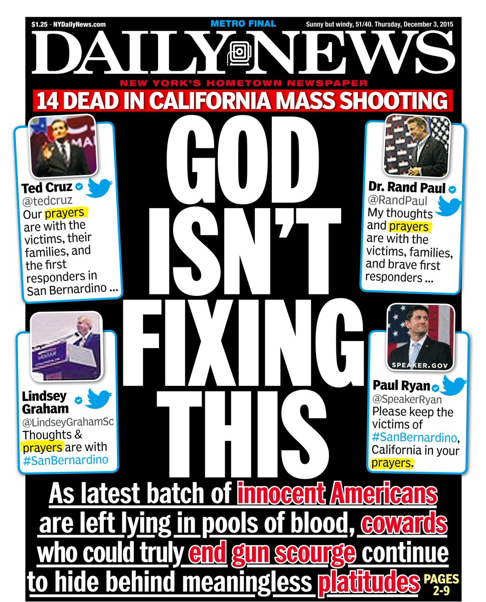 An early look at tomorrow's front page… GOD ISN'T FIXING THIS: https://t.co/eKUg5f03ec https://t.co/j4gEFg9YtJ