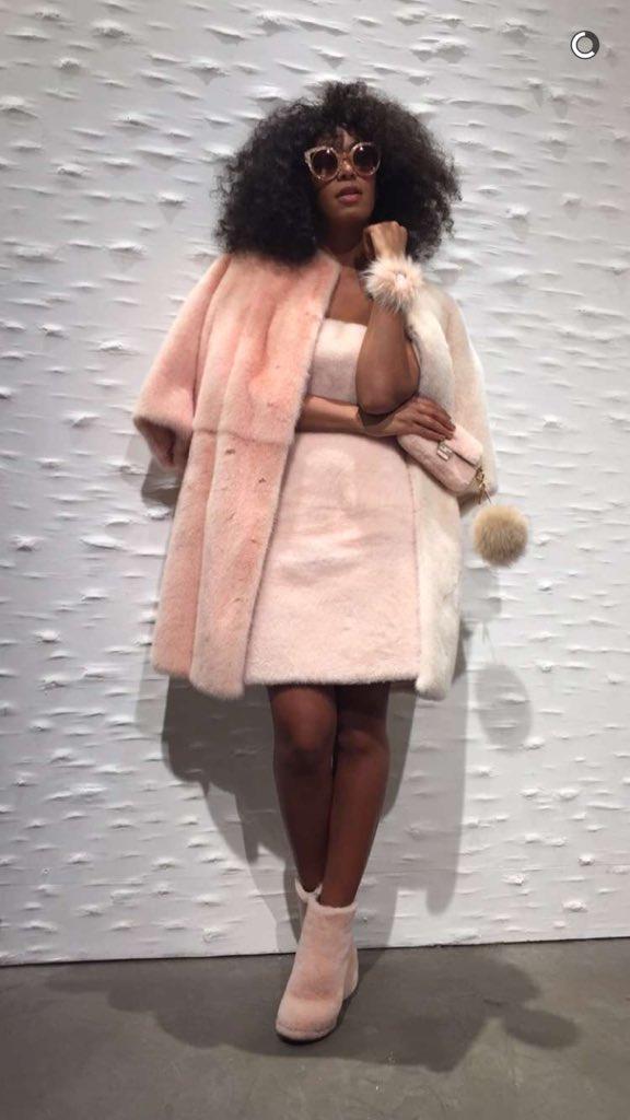 Pink furs for #ArtBaselMiami