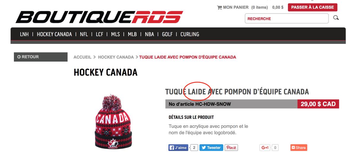 .@RDSca Qui fait les descriptions de votre nouvelle boutique en ligne? #fail https://t.co/fyDjnUCbxh