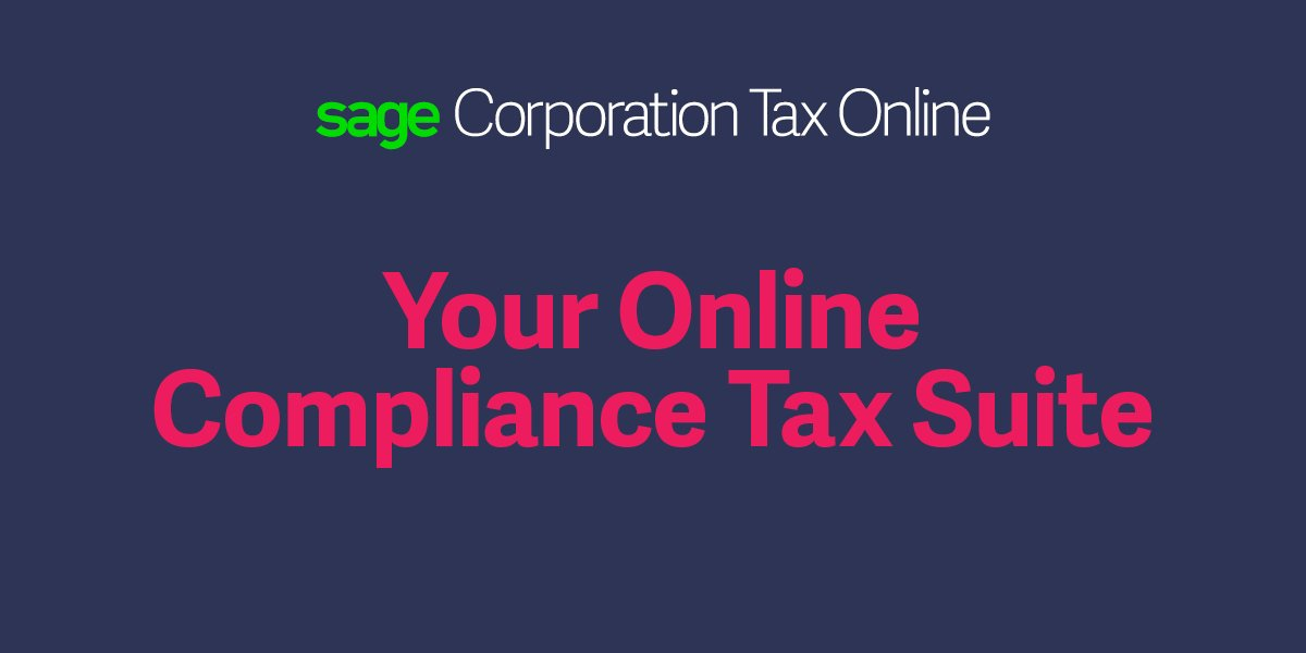Big announcement: your new End-to-End Online Corporation Tax Solution is here https://t.co/O4E855LIqt #SageCTonline https://t.co/LYLi39kNvA