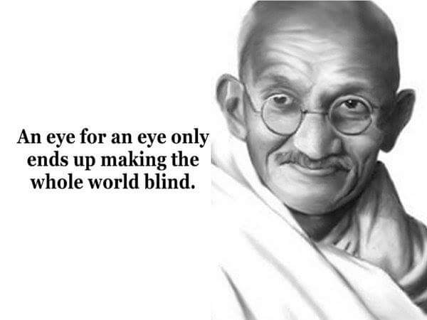 An eye for and eye only ends up making the whole world blind. #NotInMyName #DontBombSyria #SyriaVote https://t.co/4X8Hlc7zyV