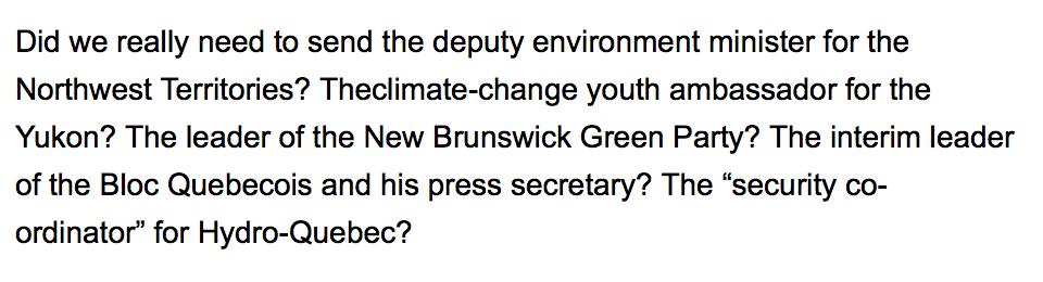Say what? Canadian climate-change contingent 383 strong dwarfs Australia/UK/US put together https://t.co/uDe6XT5aGd https://t.co/H7zTKjmwgj
