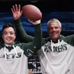 Congrats to #4 @Favre4Official on the jersey retirement and for breaking plates with me! https://t.co/QmSlM3xKRy