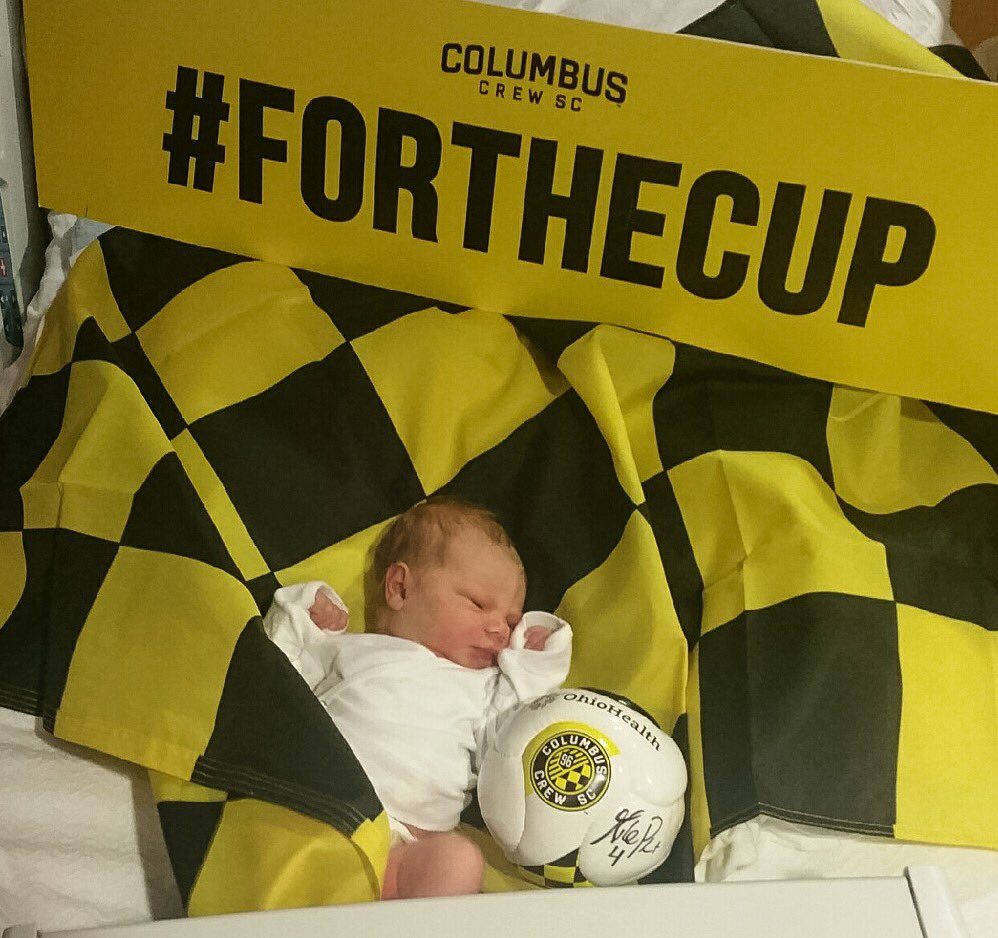 This Dublin Hospital baby was born in time #ForTheCup! Go @ColumbusCrewSC #CrewSC! #ForColumbus #CrewSCBaby https://t.co/rchV1aUc9k