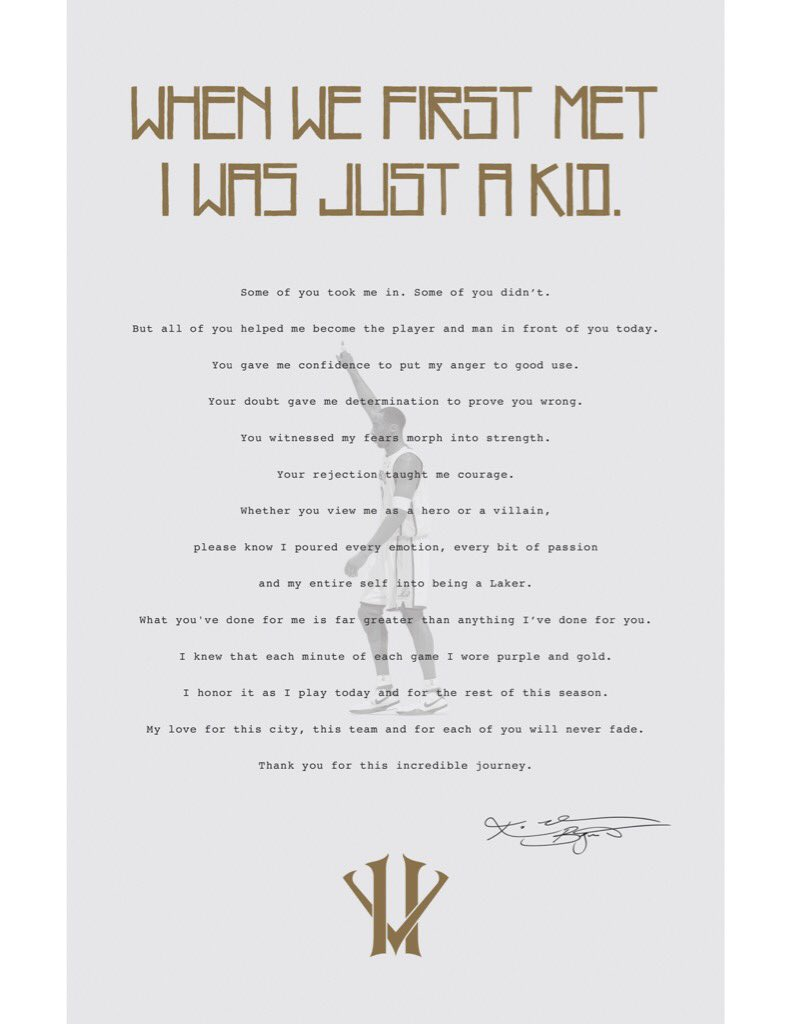 31 Kobe Retirement Letters Given Out At Sundayu0027s Lakers Game Have Sold For  $400+ Each  Retirement Letters
