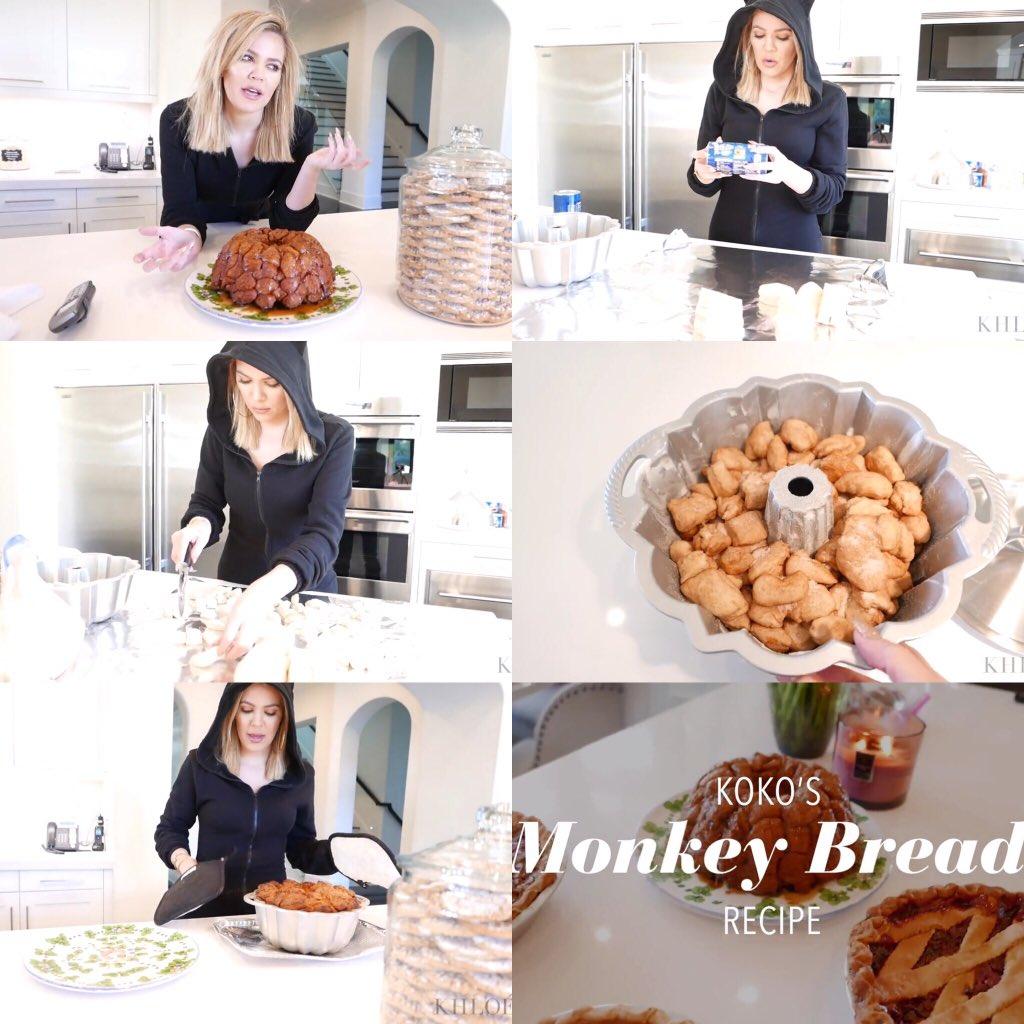 RT @itsohsokhloe: Unlock @khloekardashian's world to see more of the BTS making of her Monkey Bread https://t.co/9XxzlAmSMw https://t.co/au…
