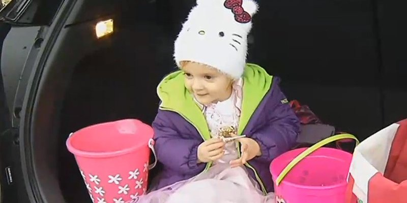 3-year-old Molly missed Halloween this year after sadly coming down with pneumonia