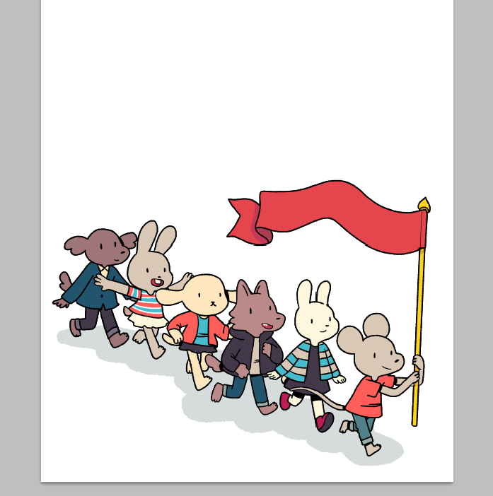 how do you draw crowds? just figuring out colors for 6 people is ahhhh https://t.co/oWfbrxJtD2