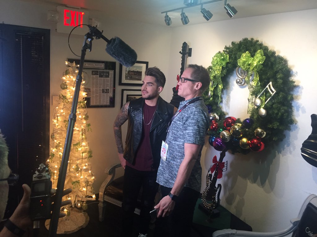 We're backstage with @adamlambert!!! #MIXMas https://t.co/Is3sDBzBkl