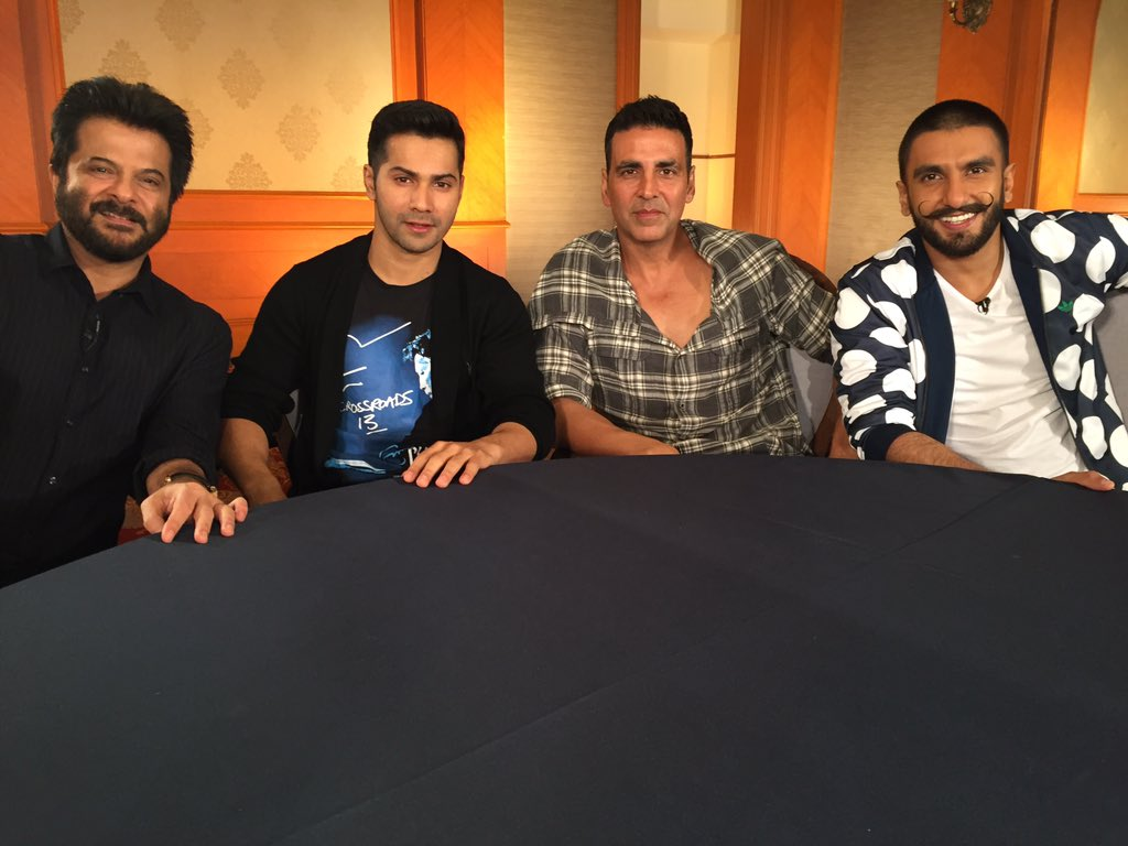 Thank you @AnilKapoor @Varun_dvn @akshaykumar @RanveerOfficial for being on CNN-IBN's Actors Roundtable. Coming soon https://t.co/6p2rsJbQl6