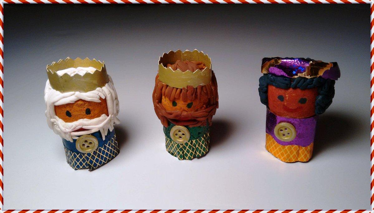 Manualidades para Navidad: Reyes Magos con tapón de corcho.
