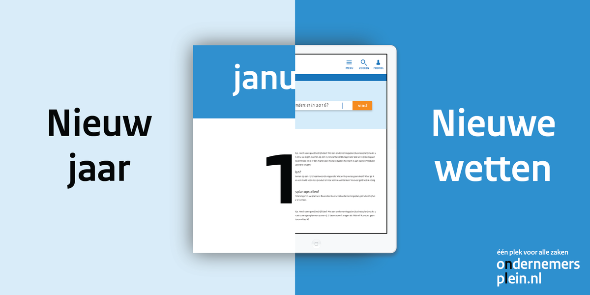 Wat verandert er voor jou als ondernemer per 1 januari 2016? Check het overzicht! https://t.co/BOLENE69gl https://t.co/oLuKd5jA5B